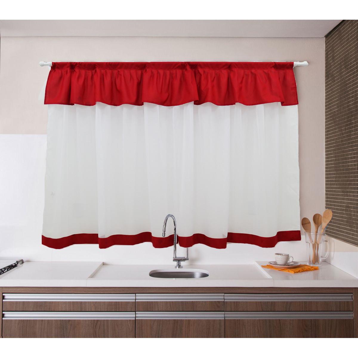 Image of: Cortina Cozinha Amor Perfeito C Bando 160×120 No Elo7 Flor D Liza Cortinas C08554