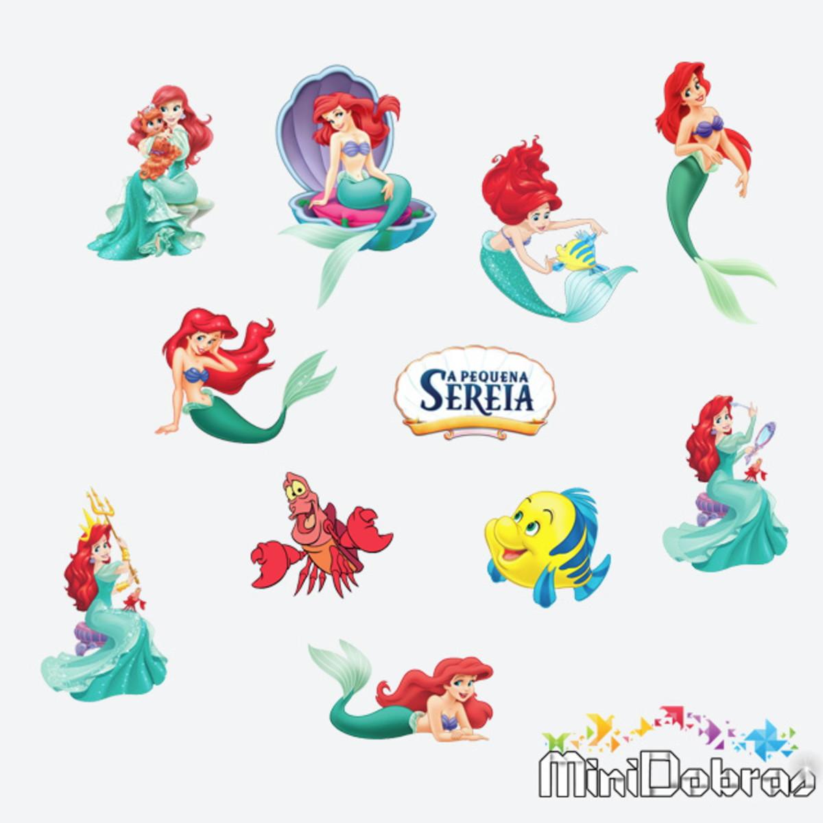 Aplique 3 Cm Pequena Sereia Ariel No Elo7 Minidobras