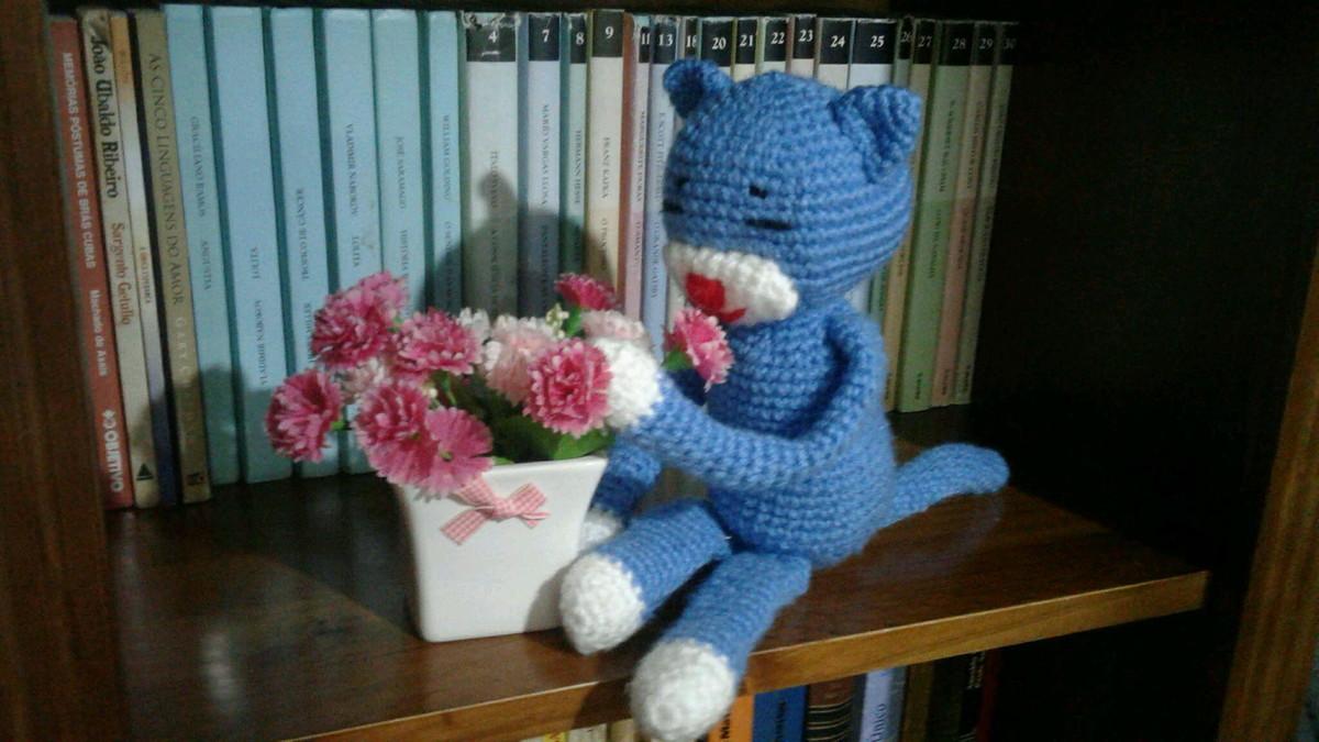 Large Ami Cat crochet pattern - Amigurumi Today | 675x1200