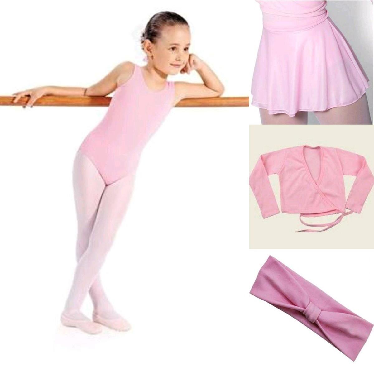 fff1ae4f1 Roupa de ballet infantil collant casaquinho e saia de balé no Elo7 ...