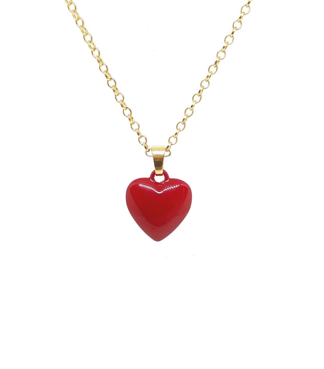 Colar de Coração Feminino Pingente de Coração no Elo7   Reluz - Semi ... d2e6141c83