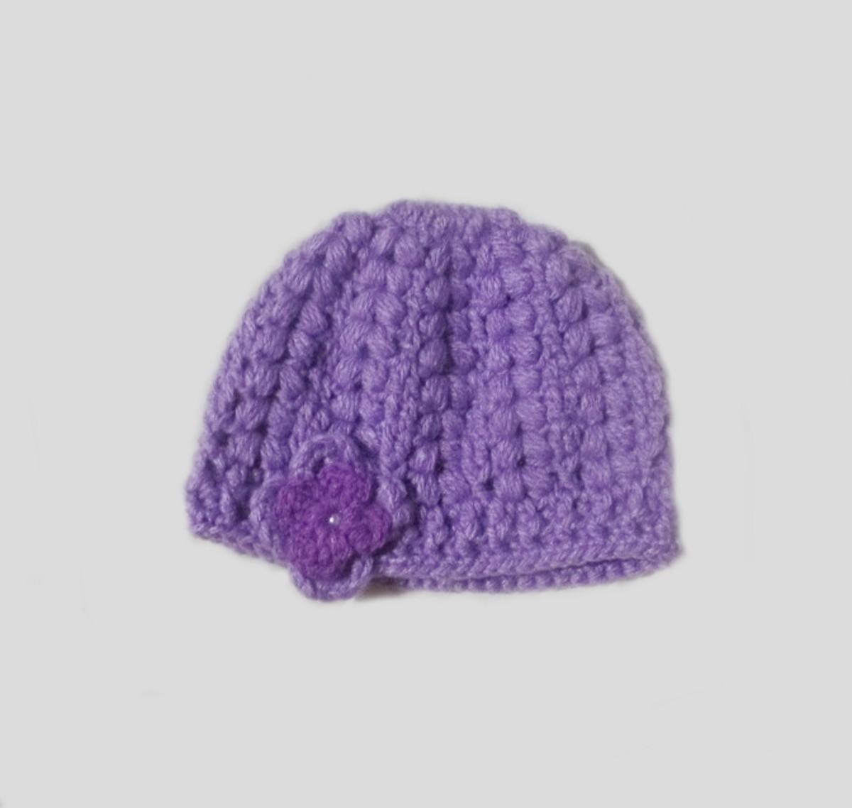 13e0e8d08 Gorro crochê feito com lã p bebê de 2 anos - Pronta entrega no Elo7 ...