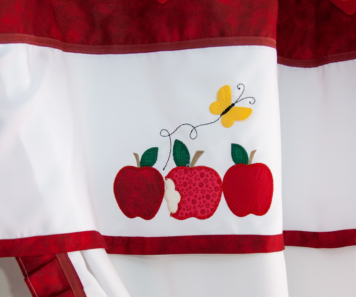 Cortina Para Cozinha Ma Vermelha E Kit Com 10 Panos M E No Elo7