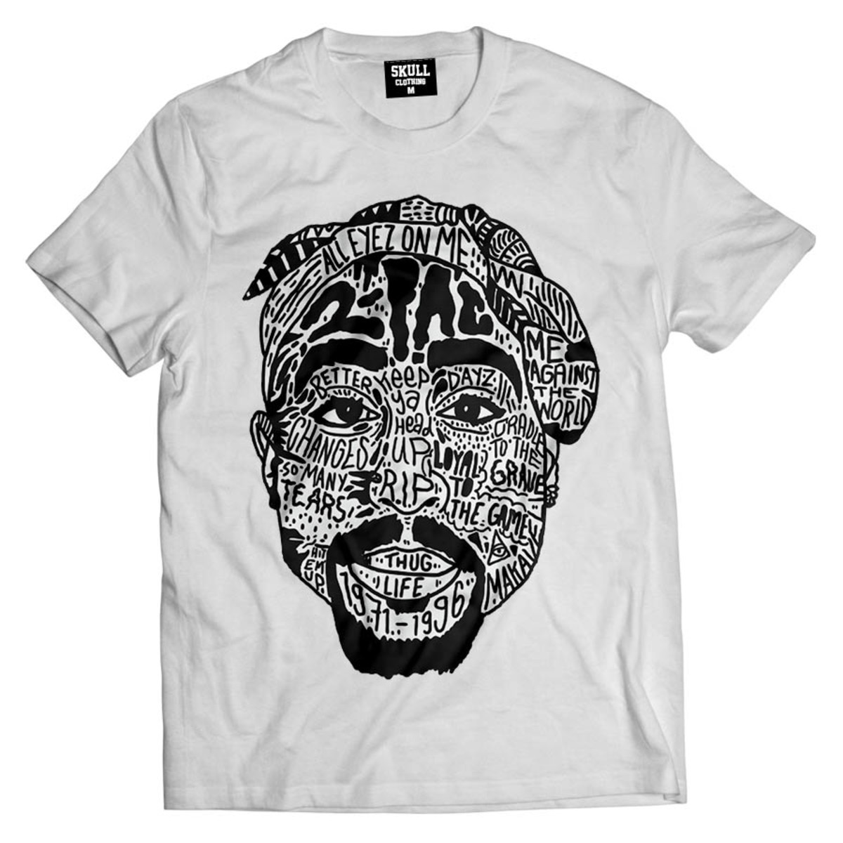 2a0be73f30 Camiseta Tupac Tattoo camisa Hip Hop masculina Swag no Elo7