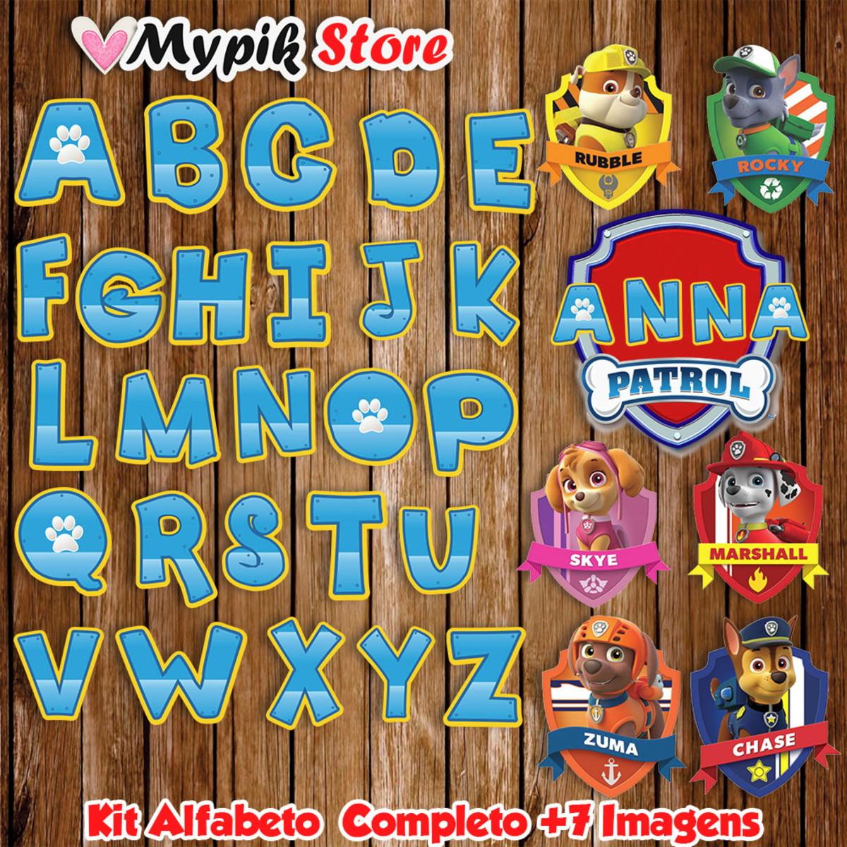Kit Digital Patrulha Canina Alfabeto E Letras No Elo7 Mypik