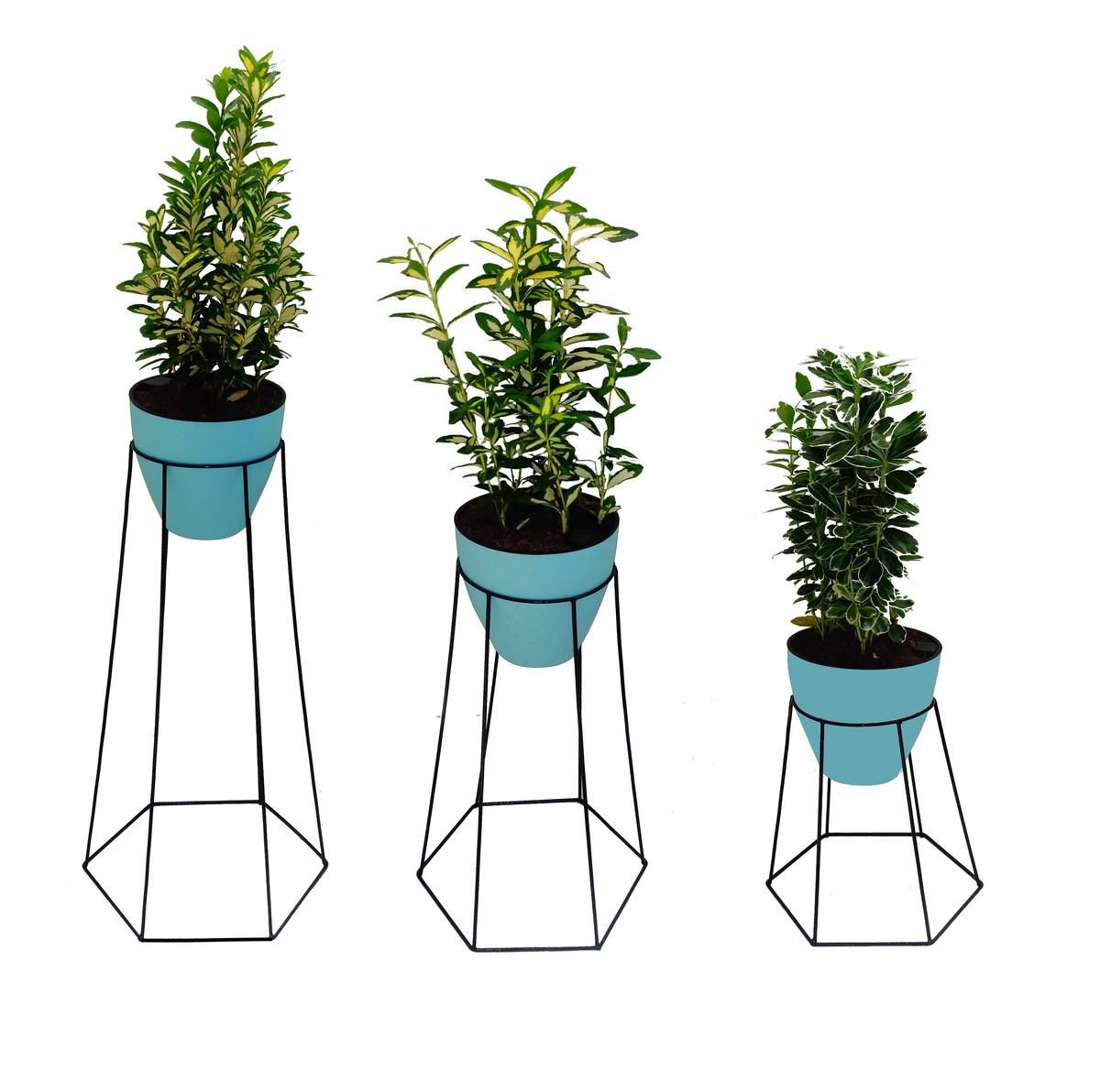 29bb7fb5de2 kit 3 unidades - suporte para vaso de plantas -hexagonal no Elo7 ...