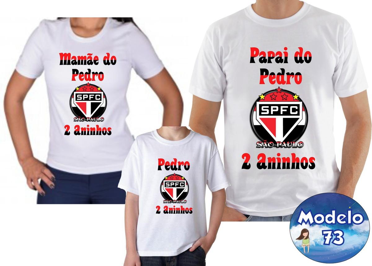 44f66dd3c8 Camiseta Personalizada futebol Time c 3 no Elo7