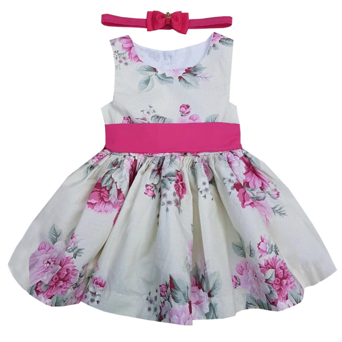 f1ee5fc09 Vestido Bebê Floral Festa no Elo7
