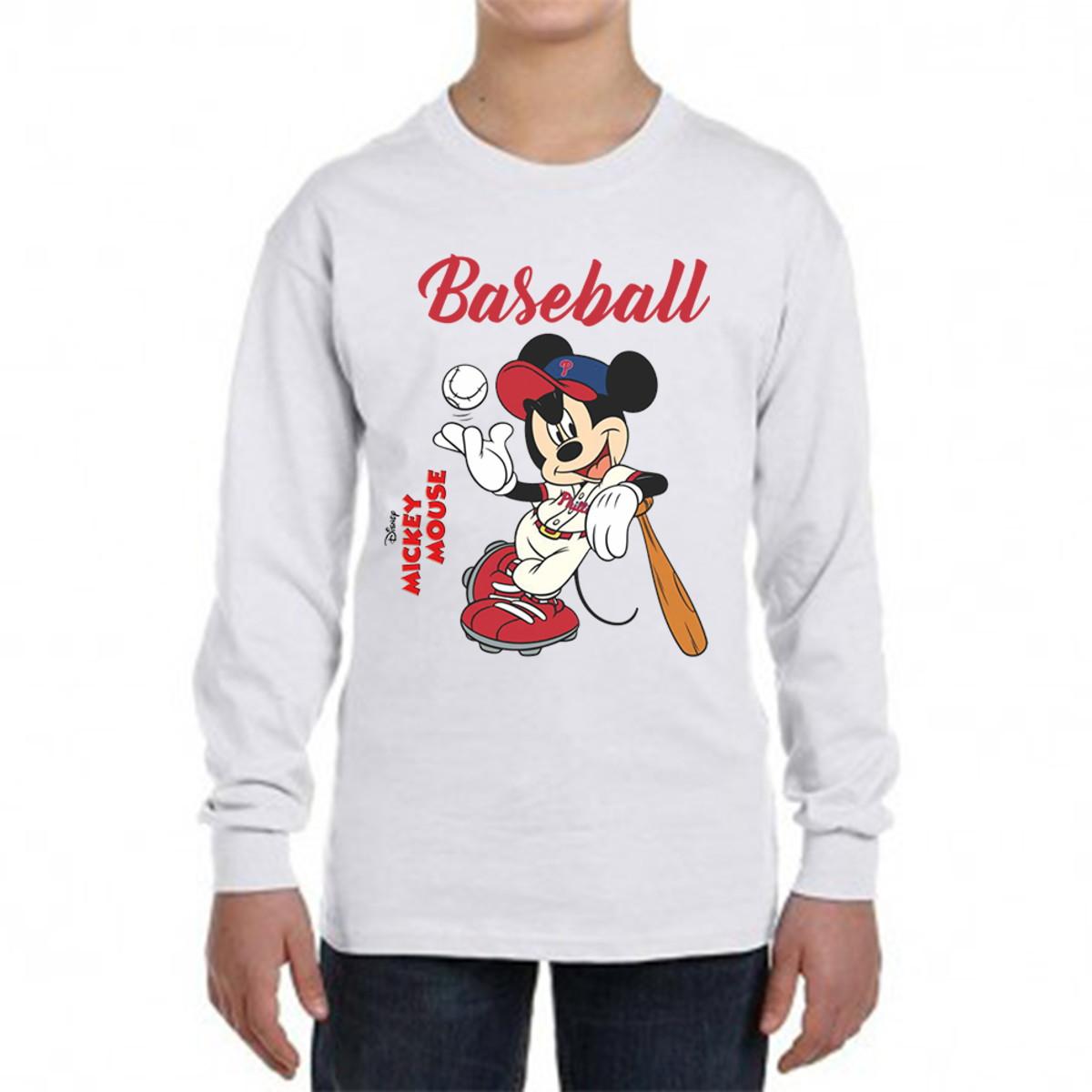 c4540e85a Camiseta Mickey Baseball manga longa no Elo7