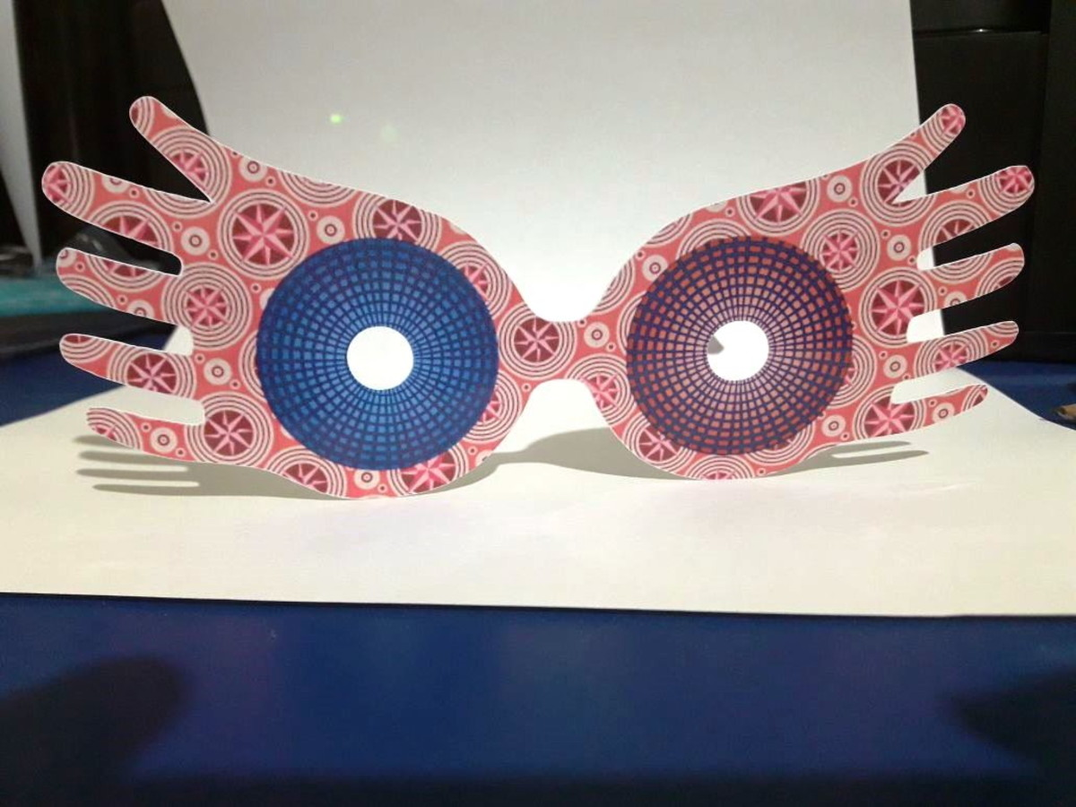 d47add8e06570 Arquivo Corte Silhouette Óculos Luna Lovegood Harry Potter no Elo7 ...