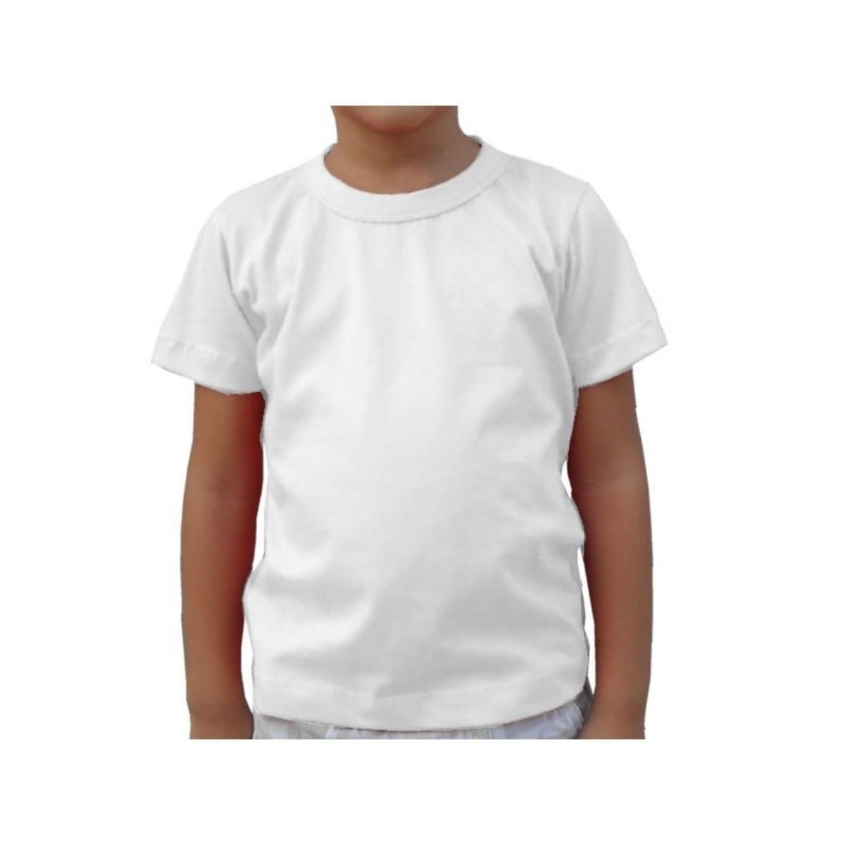 c8e89a50d1 Camiseta infantíl 100% Poliéster Branca Infantil Sublimação no Elo7 ...