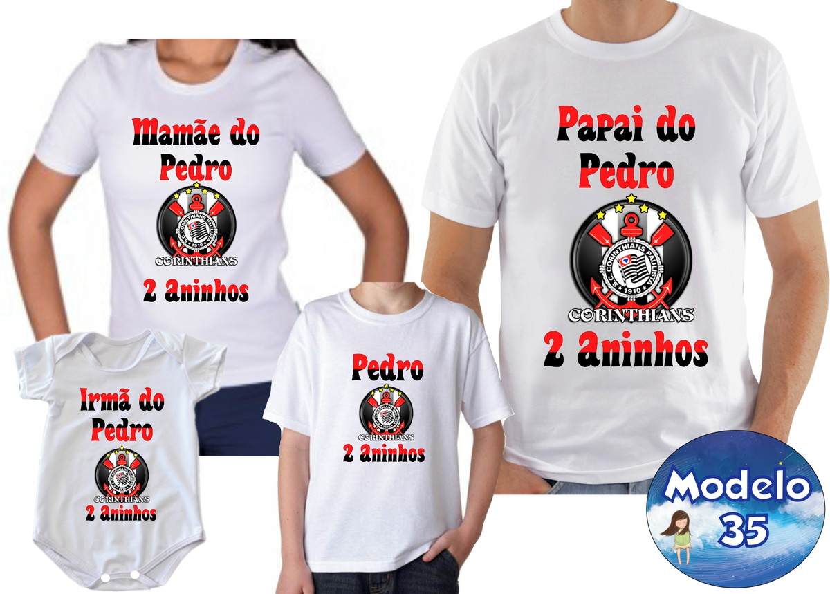 65525dfecc Kit Camisetas Personalizadas Time futebol c/4 no Elo7 ...