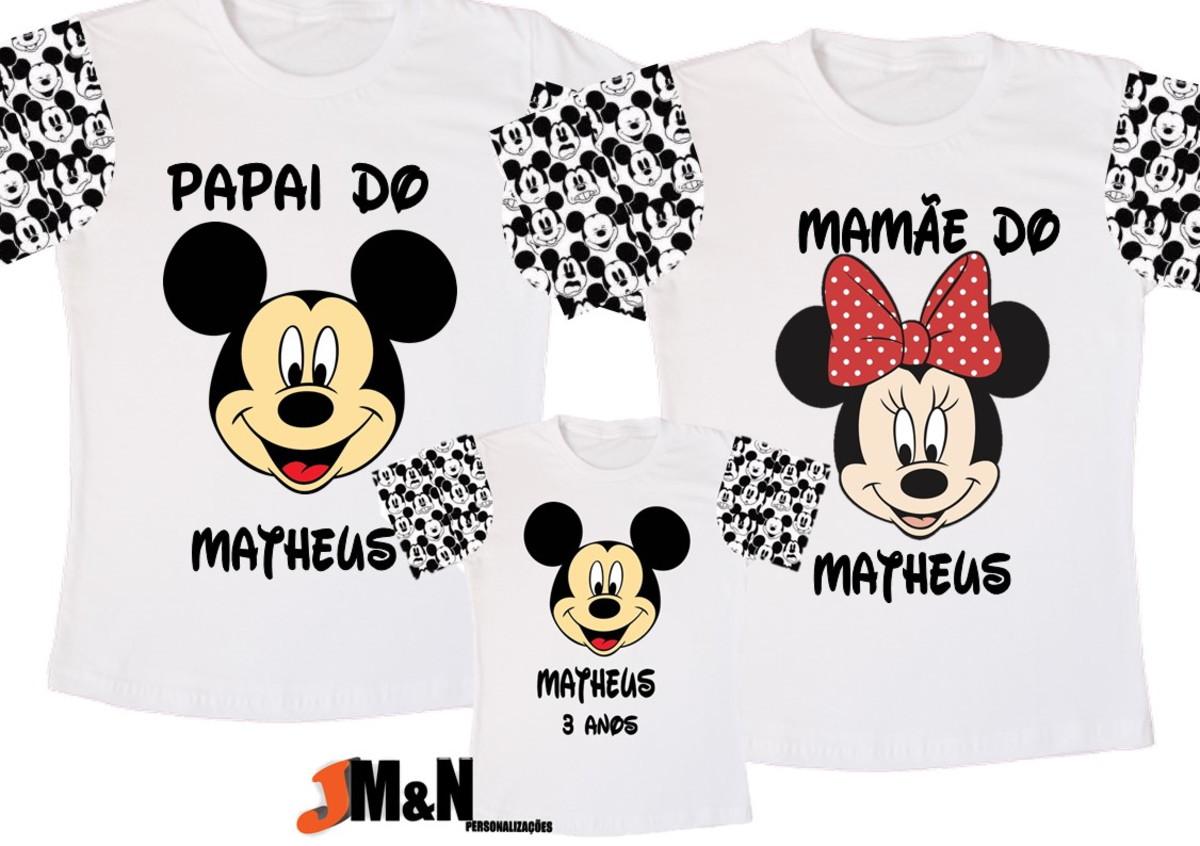 9e005f2af6c5 KIT camisetas família MICKEY - mãe, pai e filho(a) no Elo7   Ateliê ...
