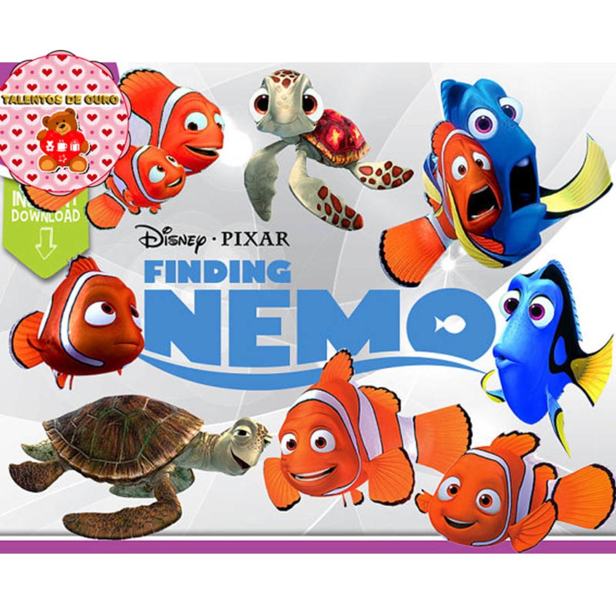 Kit Digital Scrap Procurando Nemo Dory Fundo Do Mar Png Clip