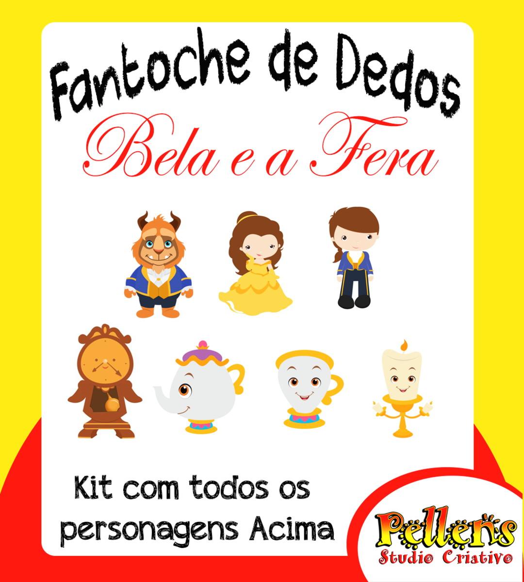 Fantoche De Dedos A Bela E A Fera No Elo7 Pellens Studio 87c6fa