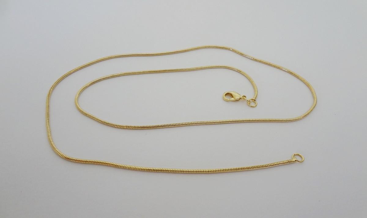 Corrente Folheada a Ouro - Estilo Rabo de Rato - 50 cm no Elo7 ... 5feb79e901