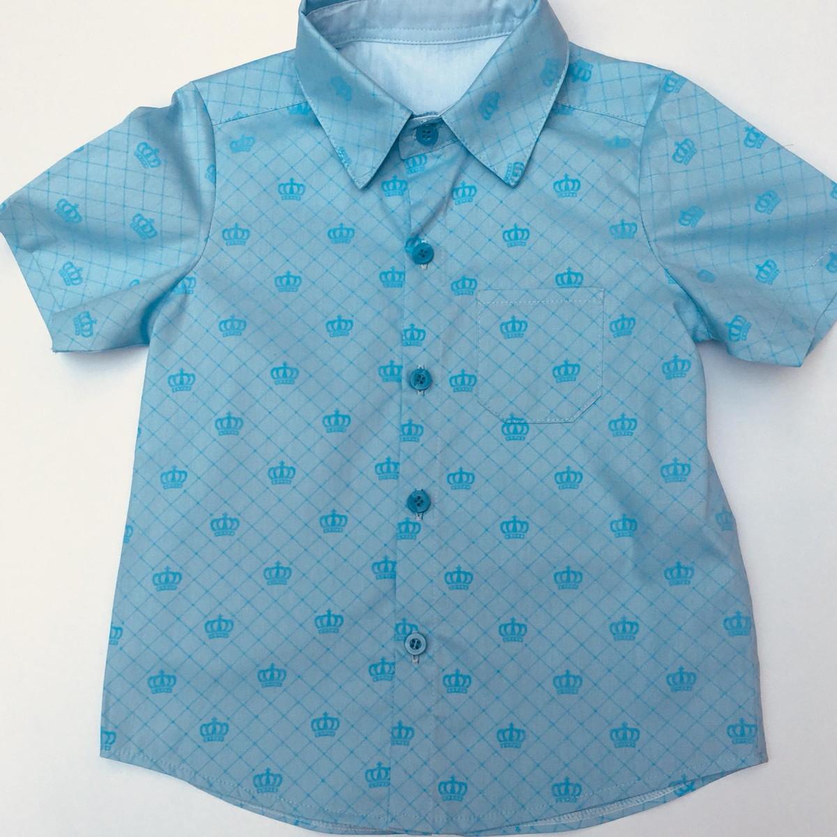 6f72c1d24 Camisa coroa azul no Elo7 | vestemenina,vestemenino! (C14EE7)