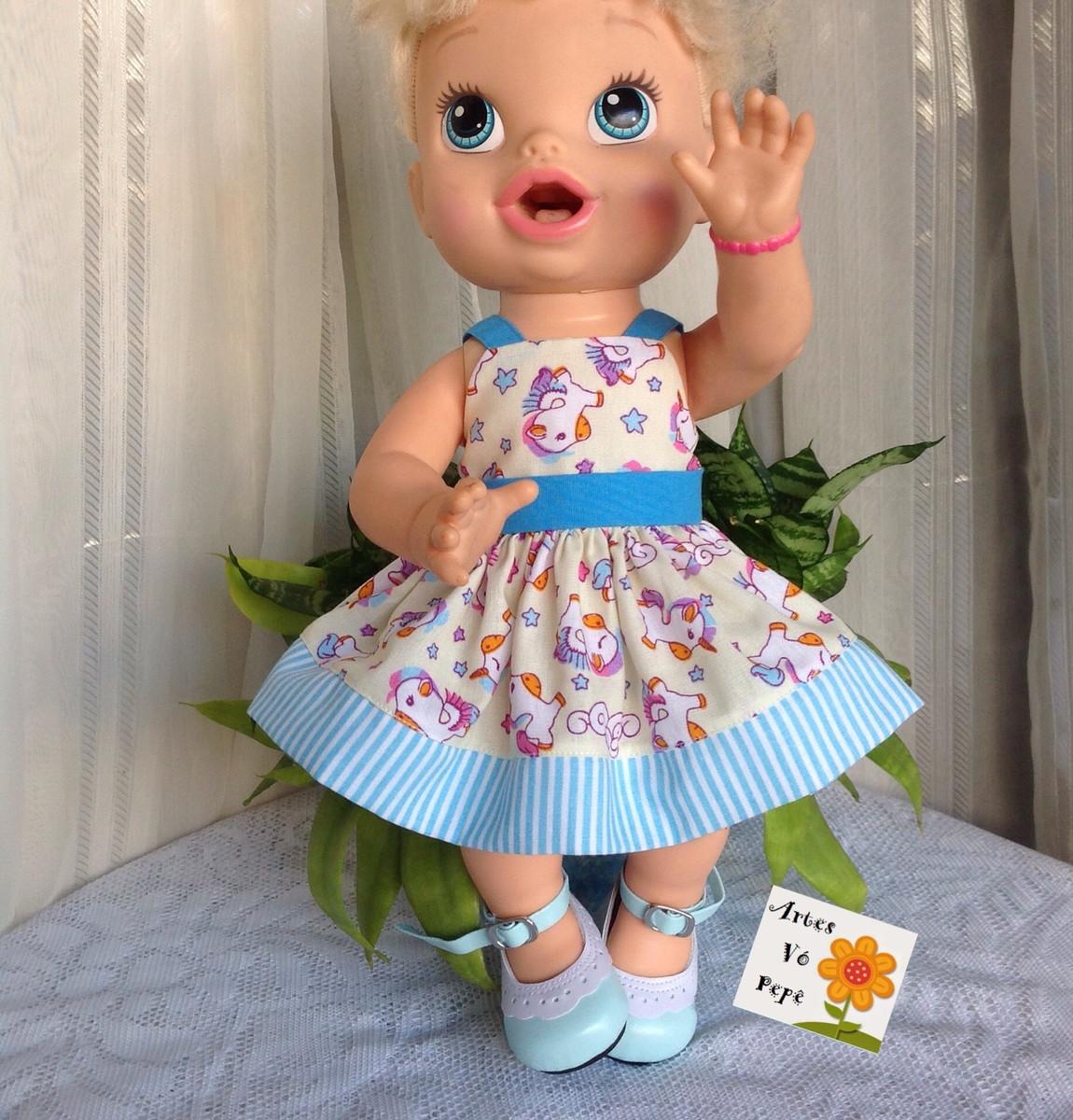 ea6ca7e970 Vestido unicórnio p baby alive (boneca ) no Elo7
