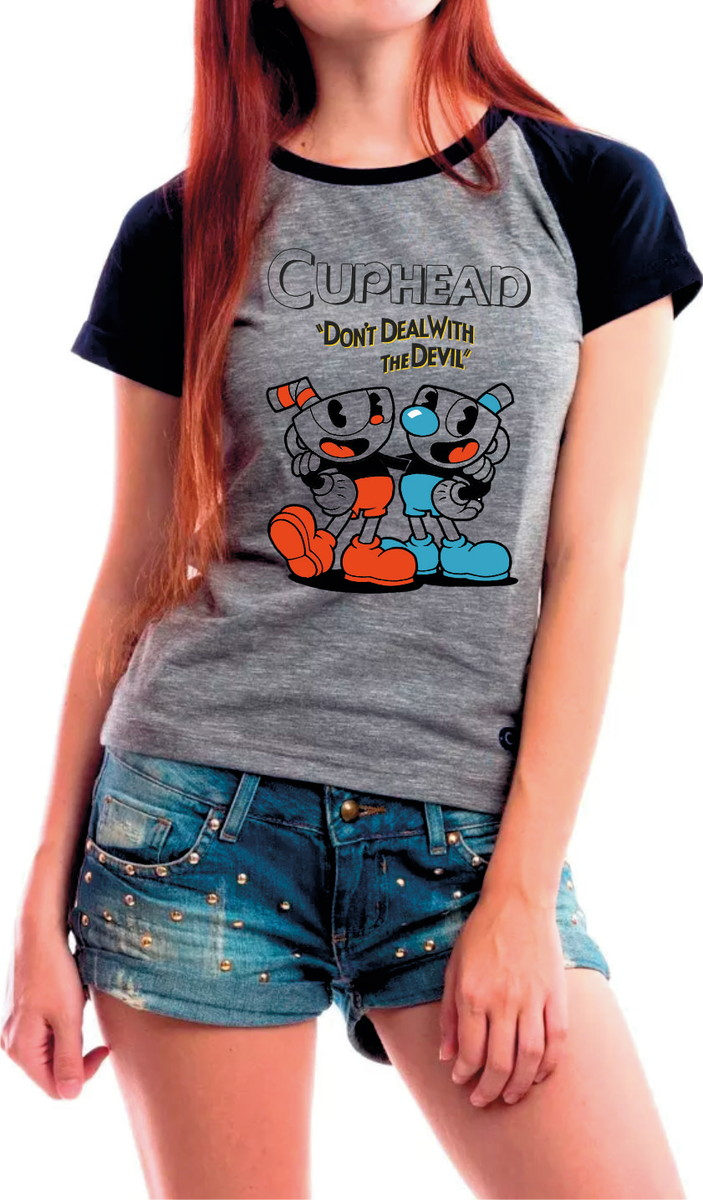 Camiseta Baby Look Cuphead Jogo Game no Elo7  cfb3f9d809334