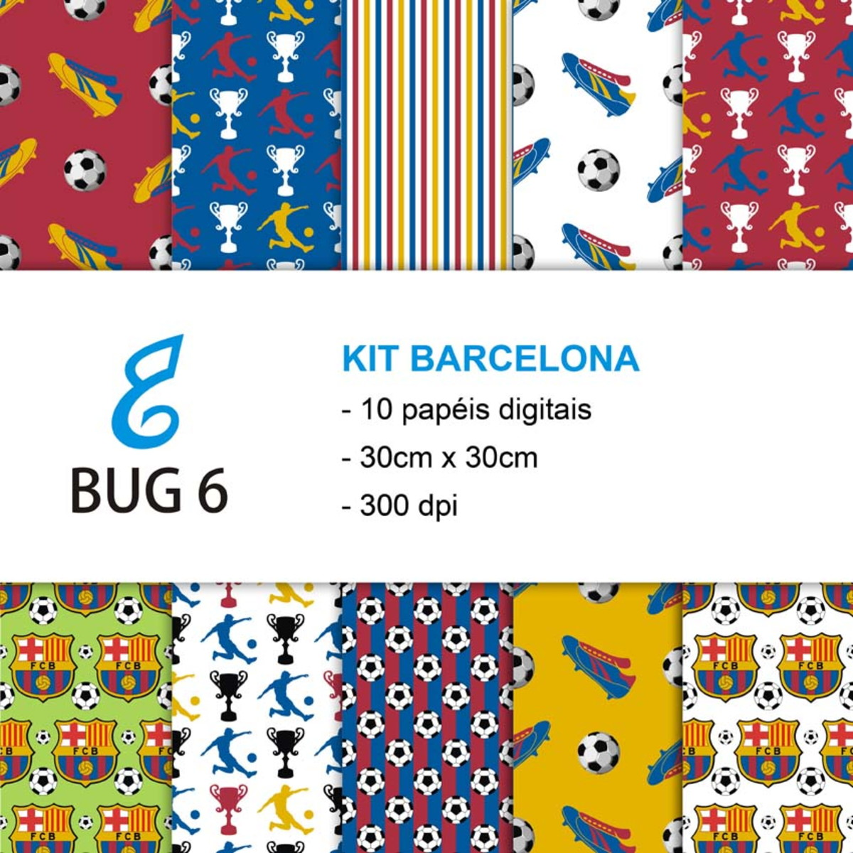Kit Papel Digital Barcelona no Elo7  b9d99679baa37