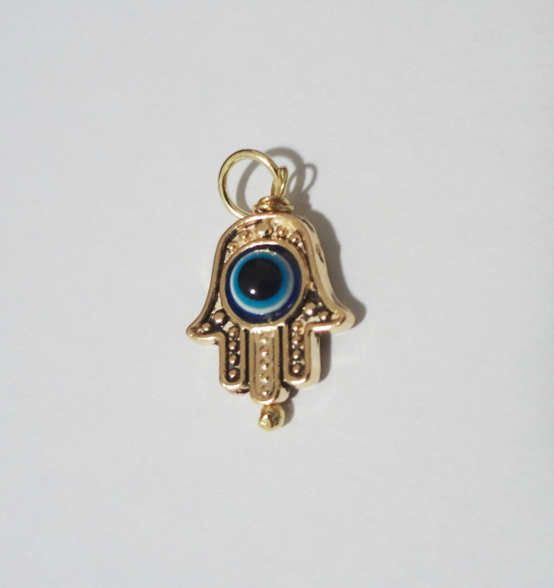d37f8084f834e Pingente Folheado a ouro - Mão de Fátima - Olho Grego no Elo7 ...