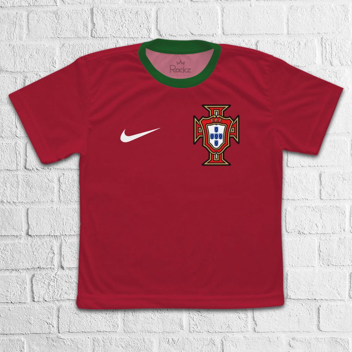 aaf5fc4f6 Camiseta Portugal Seleção Infantil - Tam 02 ao 12 no Elo7