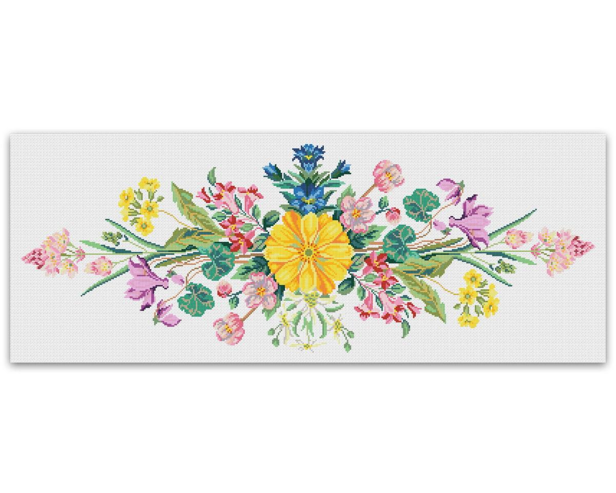 d452c475d Multi flores - Gráfico Ponto Cruz no Elo7 | Thimage - Gráficos de ...