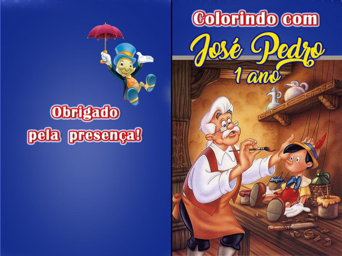 Revista Colorir Pinoquio 14x10 No Elo7