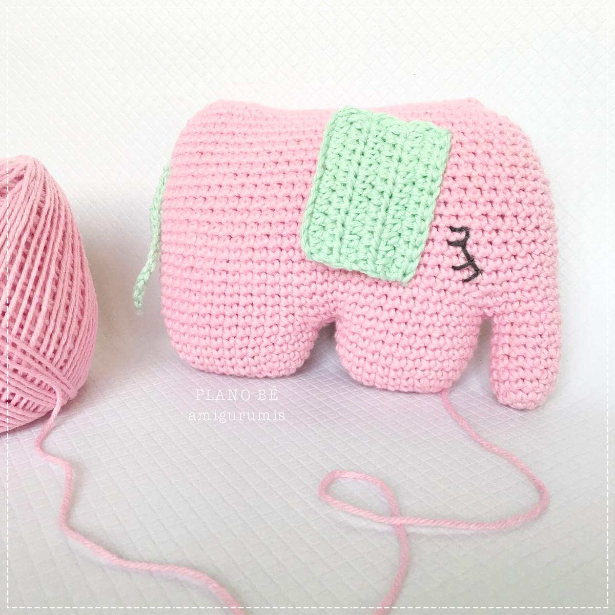 Elefante Amigurumi Em Croche - R$ 59,00 em Mercado Livre | 1200x1200