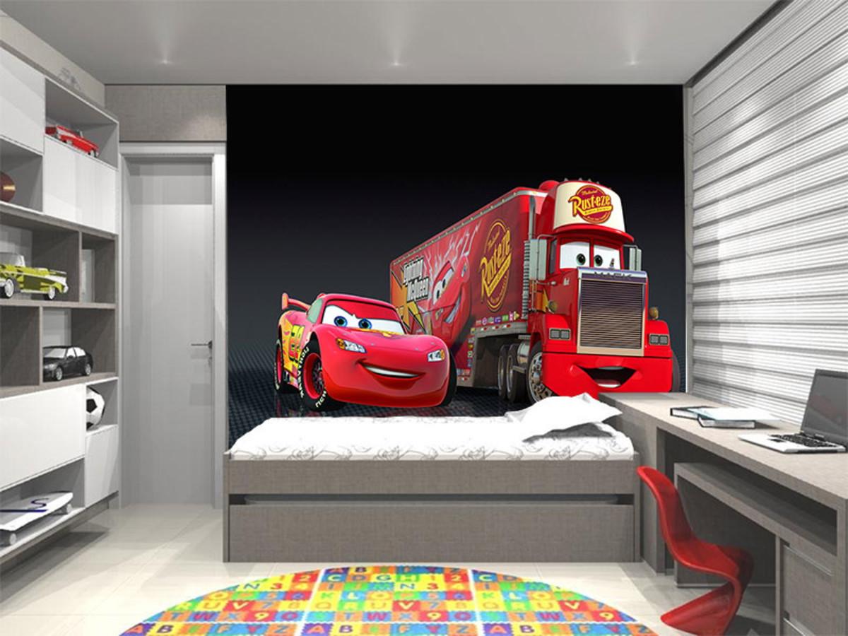 Papel De Parede Infantil Carros Disney 0003 No Elo7 Up Adesivos 3d  -> Sala Quarto Cozinha Carro