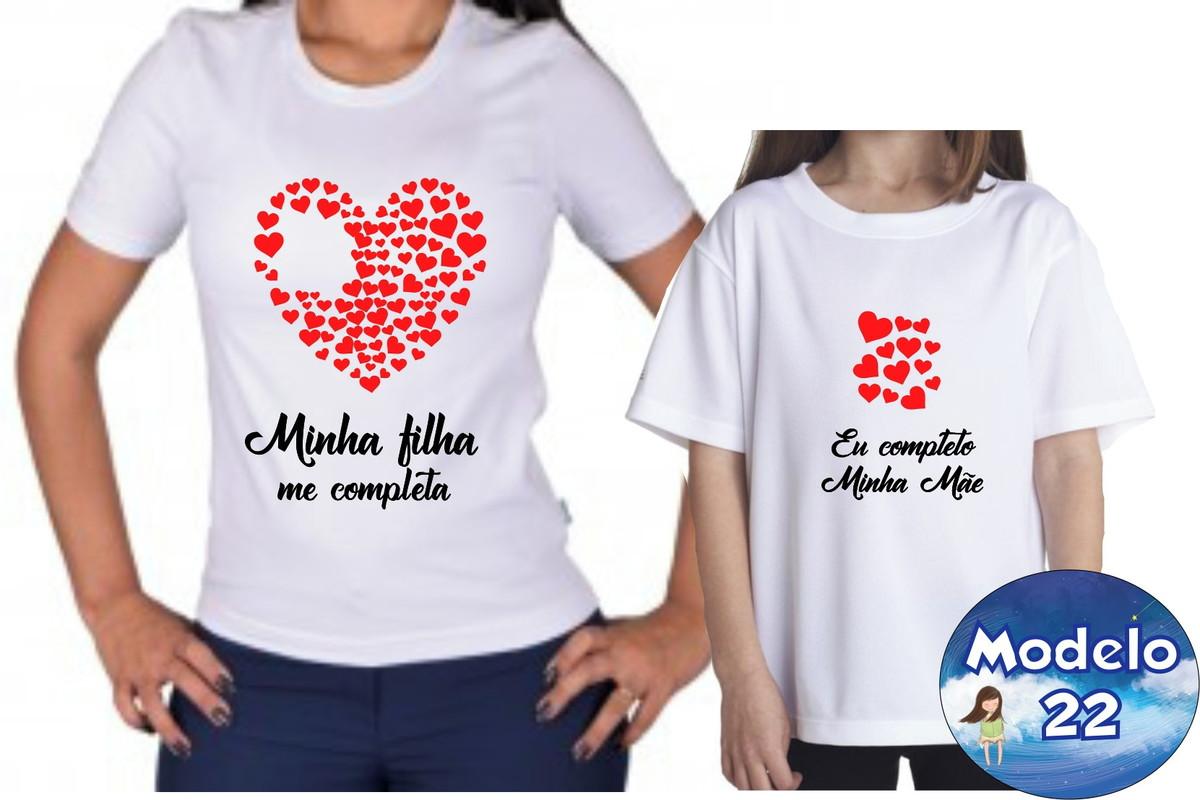 2b712c635 Camiseta e Body Dia das Mães me completa c/2 no Elo7 ...