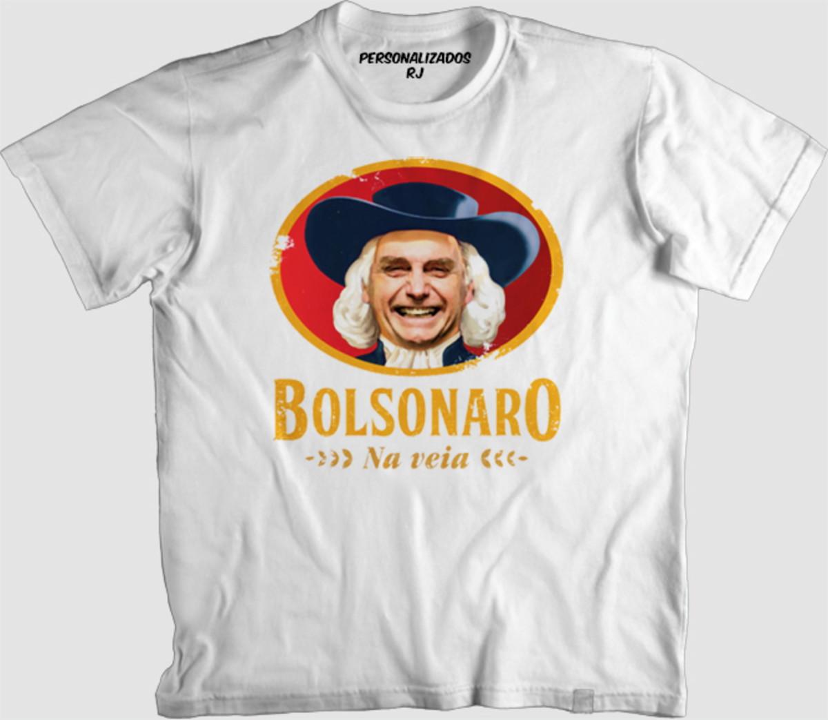Camisa BOLSONARO NA VEIA no Elo7  7ac88d9d119