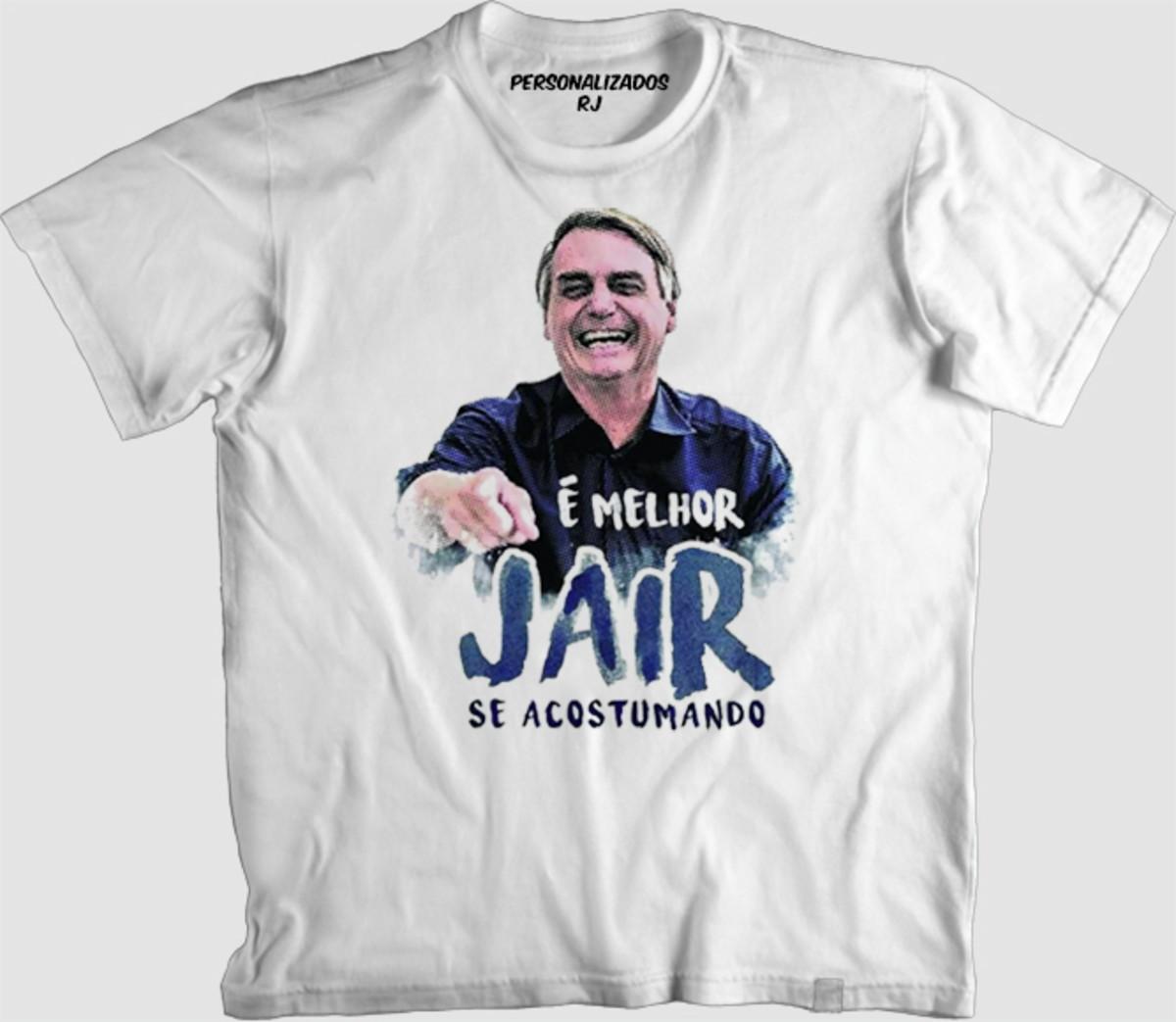 Camisa é Melhor Jair Se Acostumando No Elo7 Personalizados Rj C1f12a