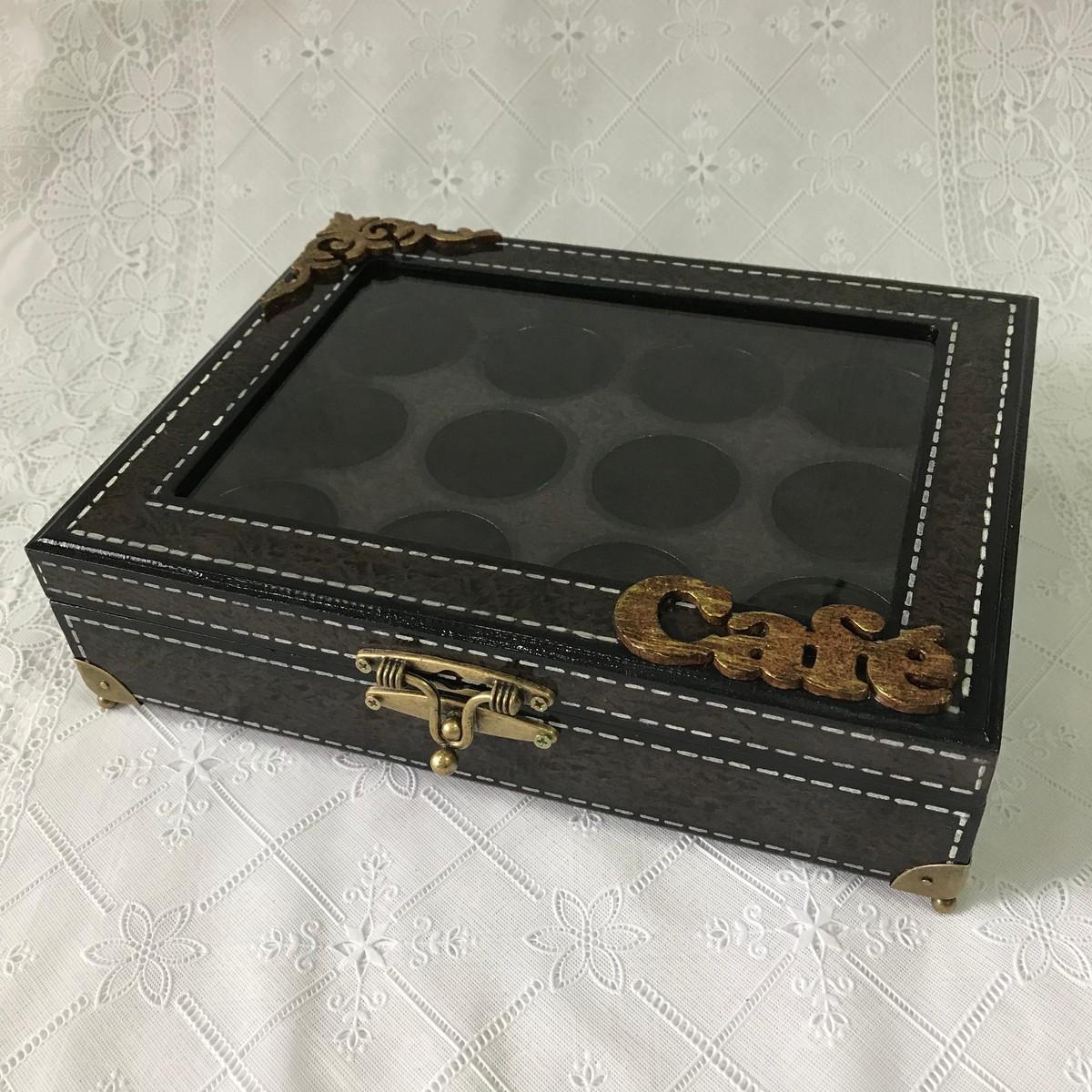 a8916cda960 Caixa para cápsulas de café mdf no Elo7
