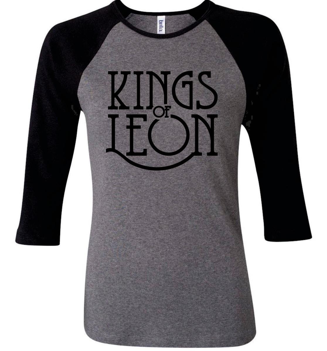 98dbdb216d15 Camiseta Raglan 3/4 Kings Of Leon no Elo7 | Camisetas Personalizadas ...