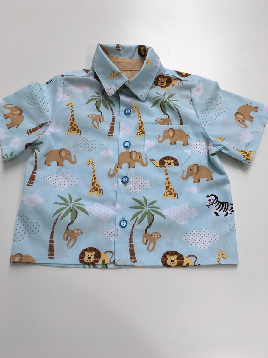 799978a49b Camisa Safari azul no Elo7