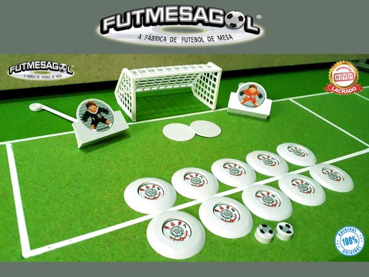 d0eb084294 1 Jogo   Time Futebol de Botão SC TIMÃO PAULISTA - Branco no Elo7 ...