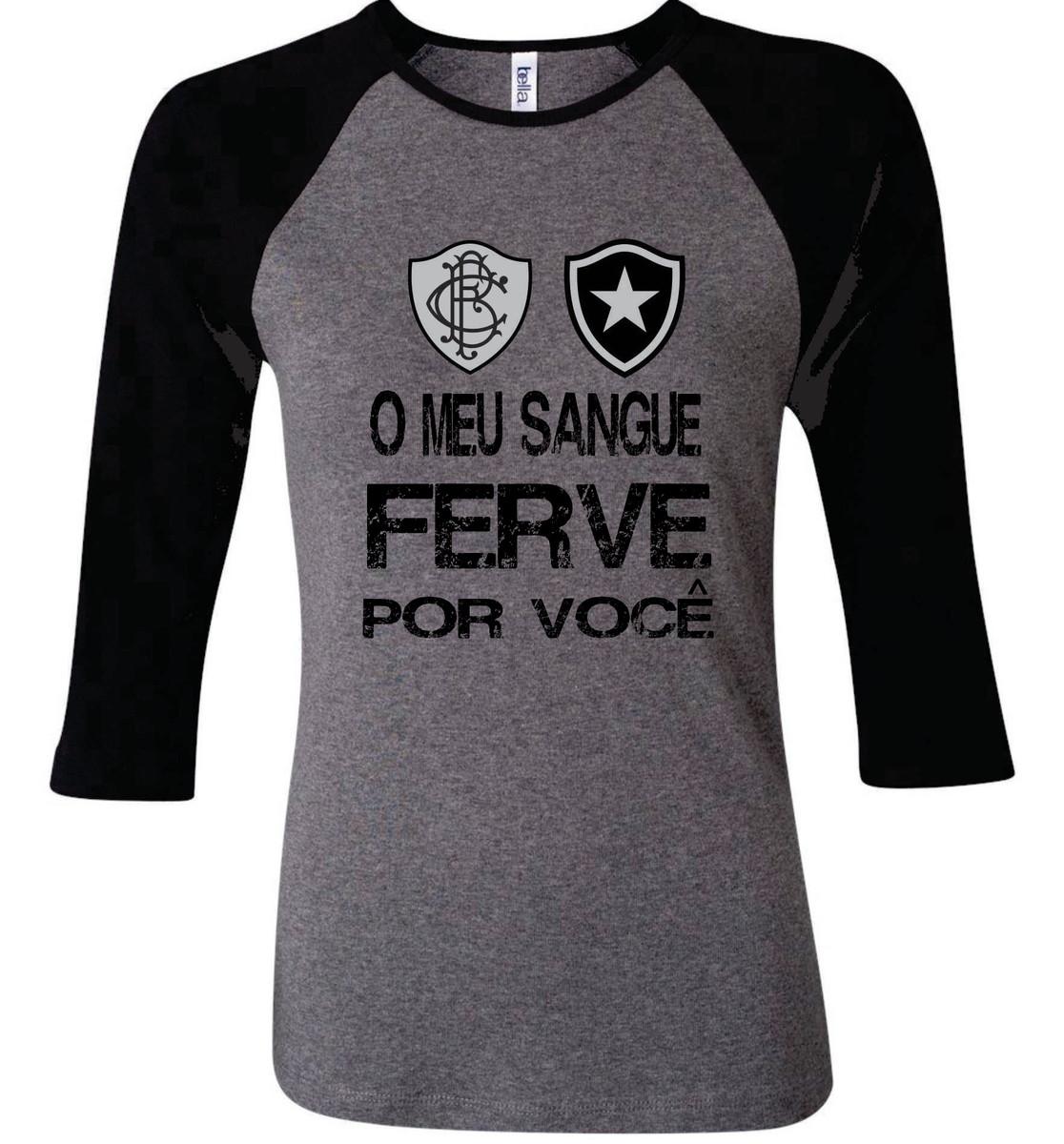 aece875cc6 Camiseta Raglan 3 4 Botafogo fogão no Elo7