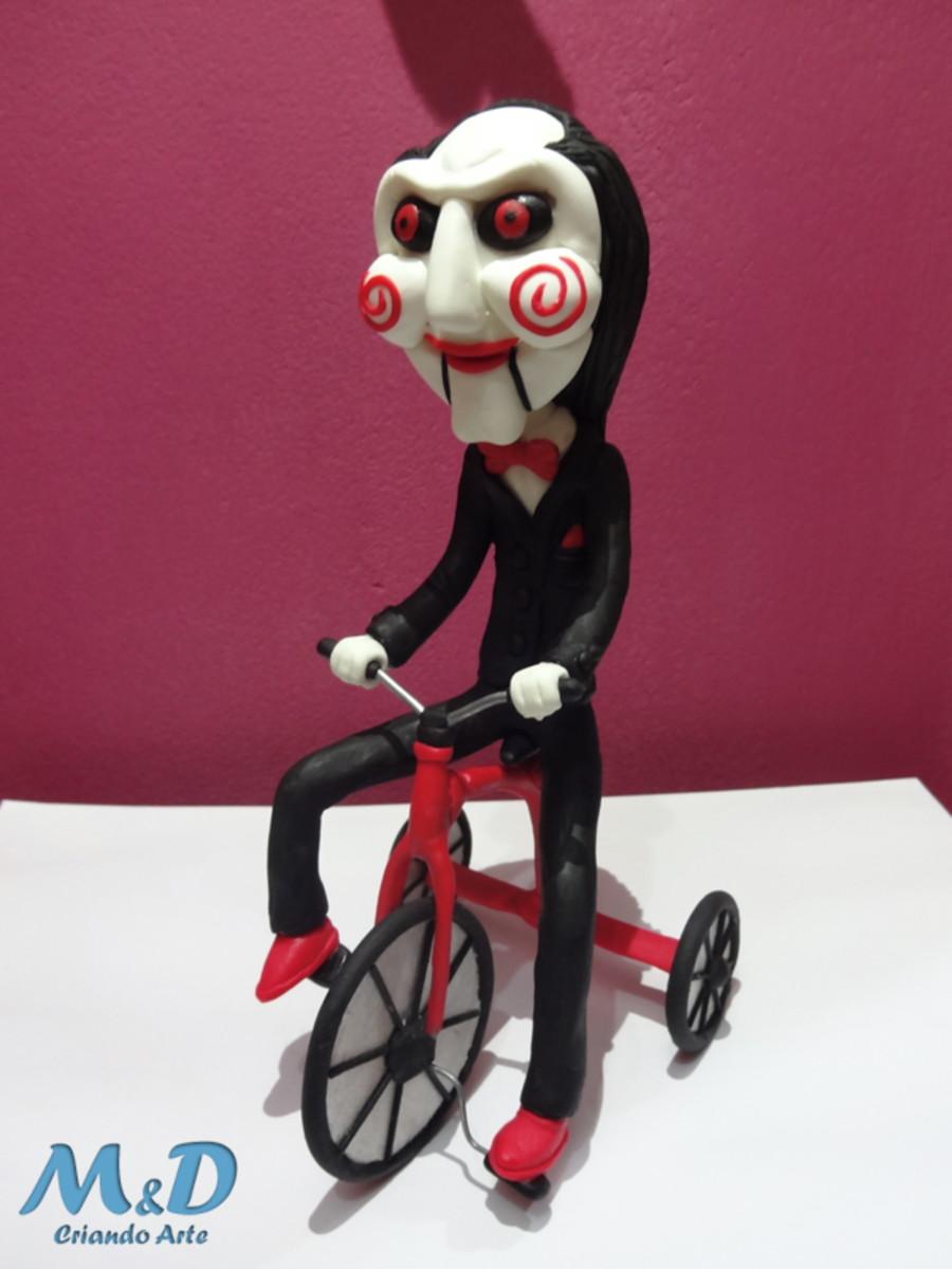 miniatura jigsaw doll c triciclo jogos mortais 20cm no elo7