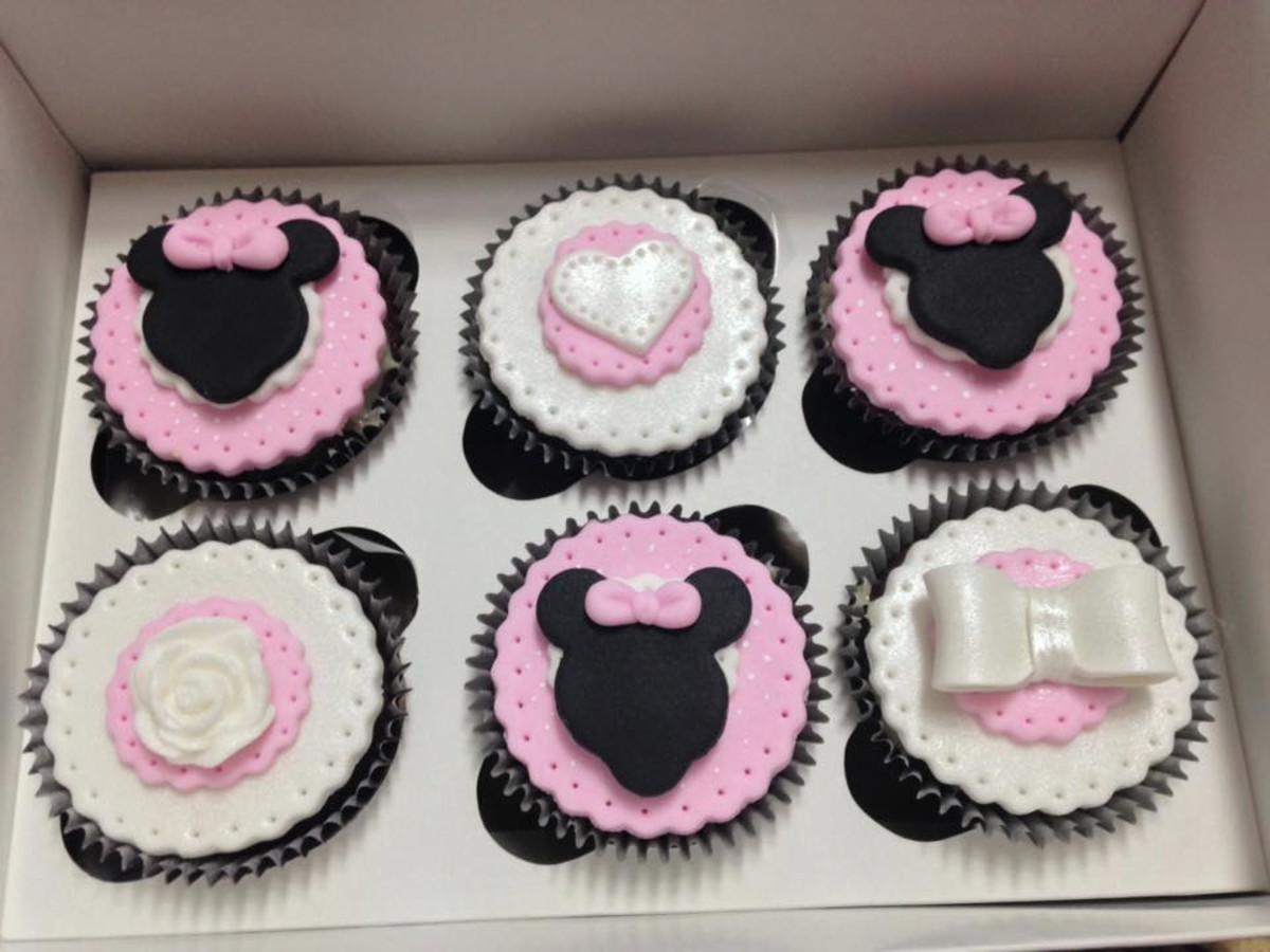 Cupcakes Decorados Minnie Mouse Rosa