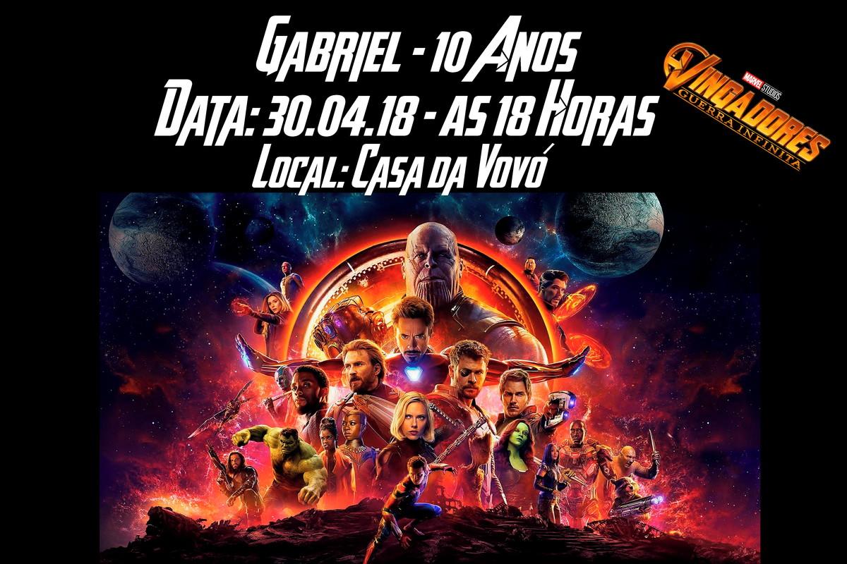 Convite Virtual Avengers Guerra Infinita No Elo7 Atelye Márcia