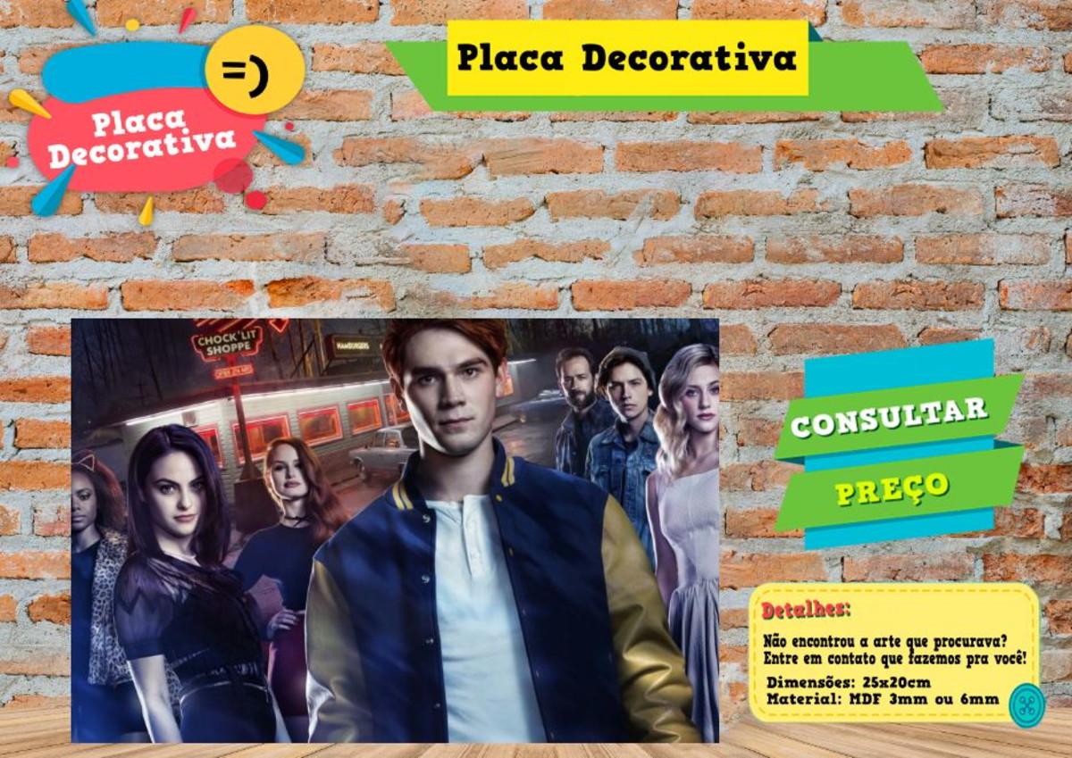 Placa Decorativa Riverdale Ref0492 No Elo7 Al Criativos