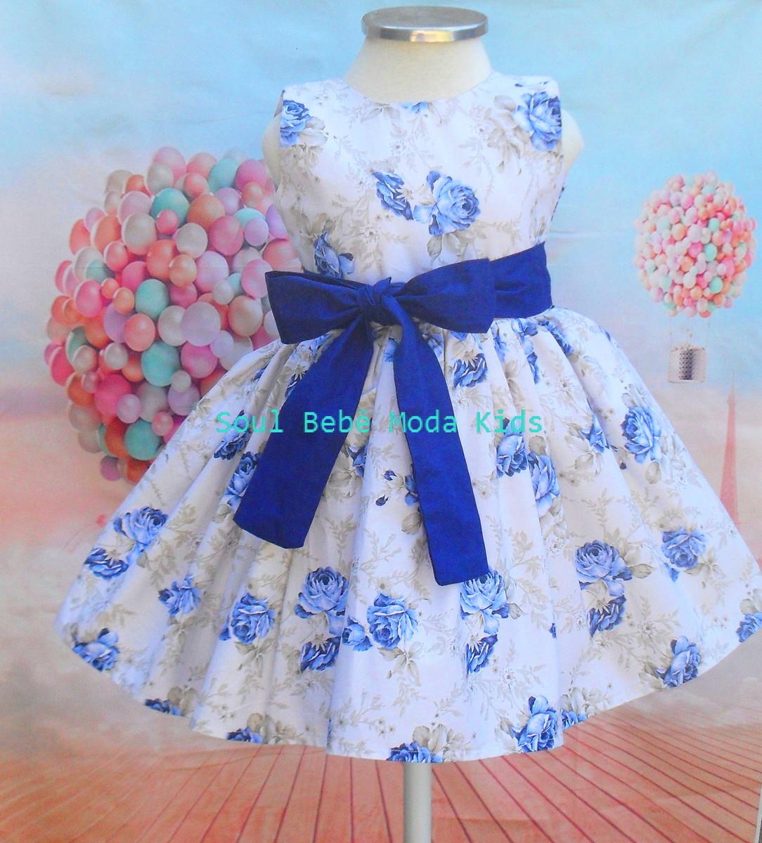 271ce21e9c Vestido Infantil Floral Jardim Daminha no Elo7
