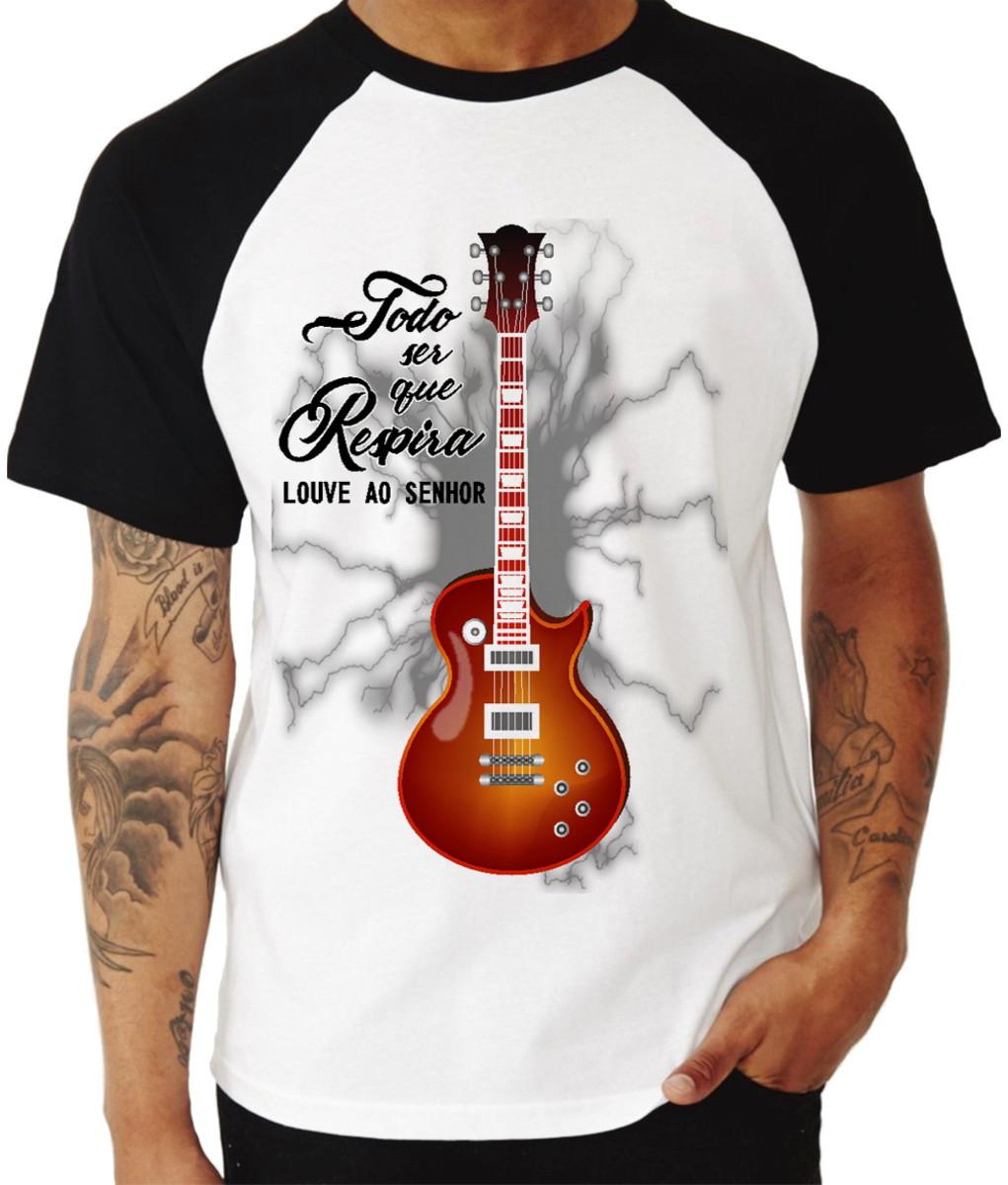 02ae6e4d1 Camiseta Gospel Guitarra Evangélica Rock no Elo7