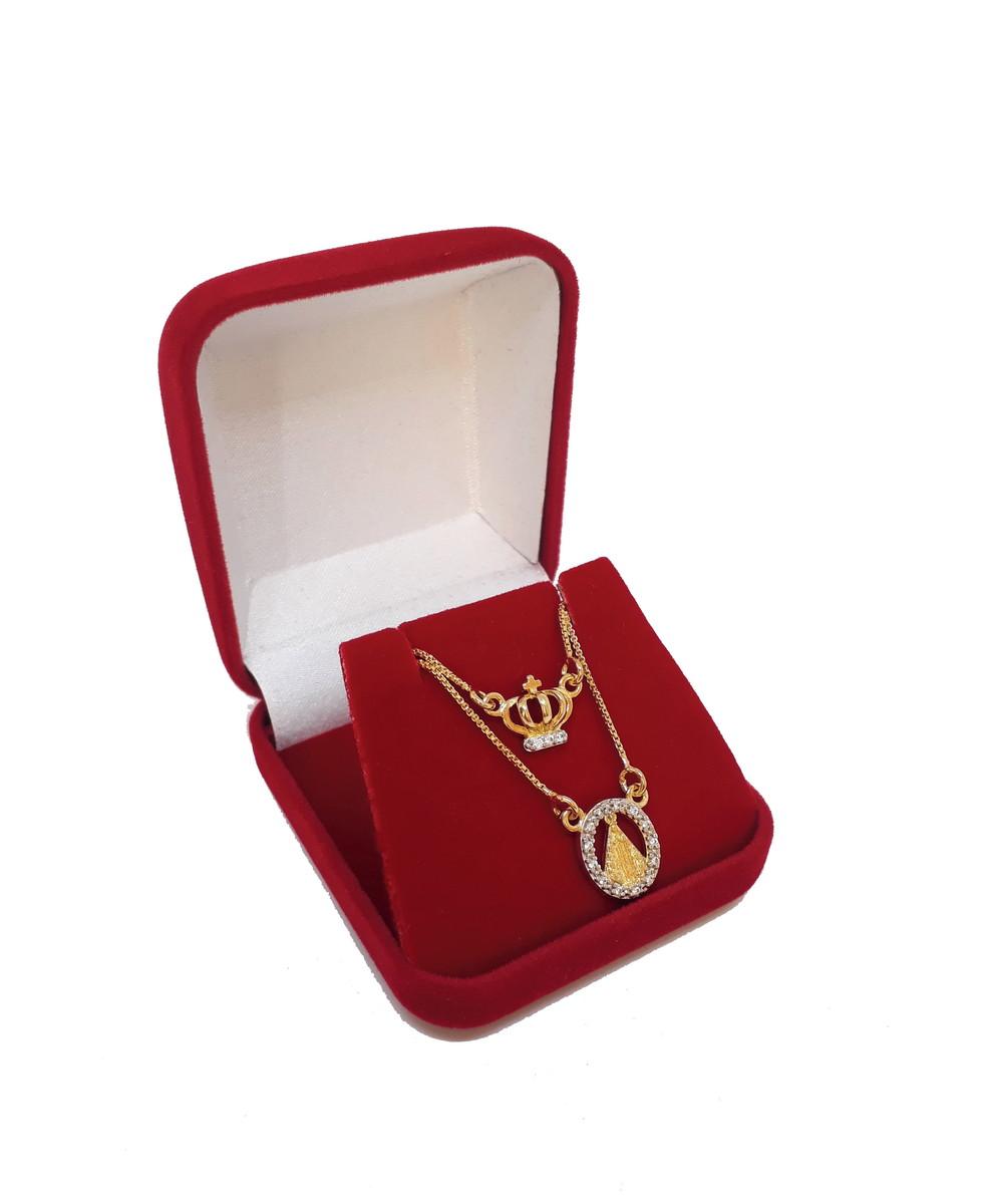 Escapulário Folheado a Ouro Medalha Nossa Senhora Aparecida no Elo7 ... 26d9083806