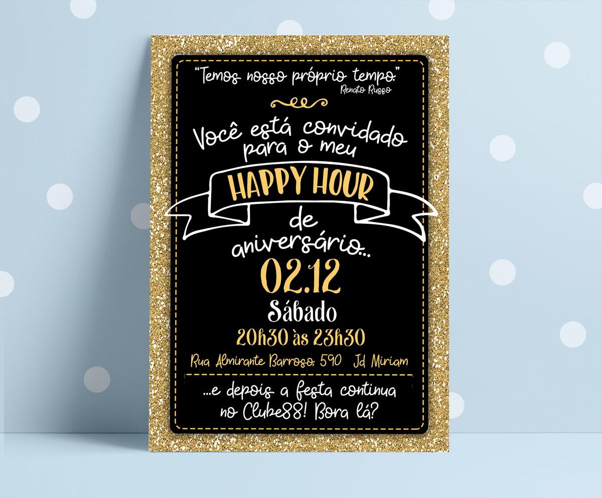 Convite Digital Happy Hour Aniversário No Elo7 Ahdesign Ad2974