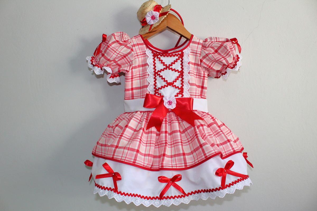 Vestido Festa Junina Luxo com saia de armação no Elo7  fc86b821a37