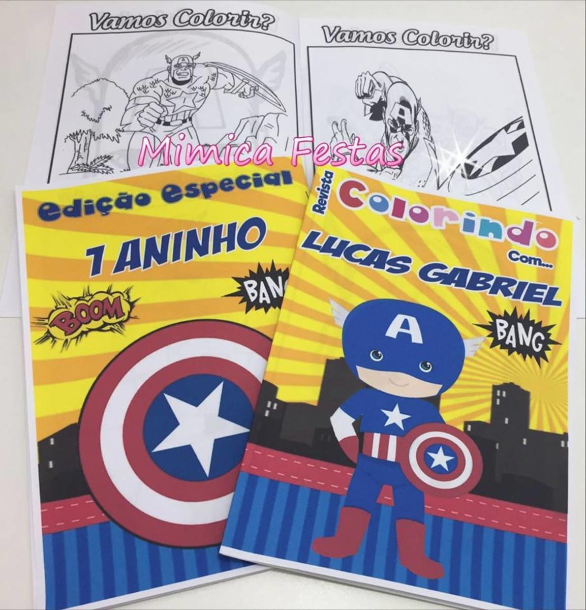 Revista Para Colorir Capitao America Baby No Elo7 Mimica Festas