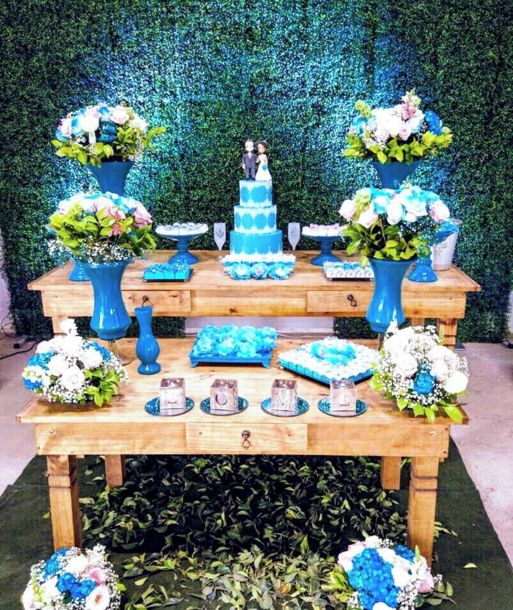 Decoração Casamento Rustica com Tiffany no Elo7   Marya e Cia Bolos ... 009fe39ba2