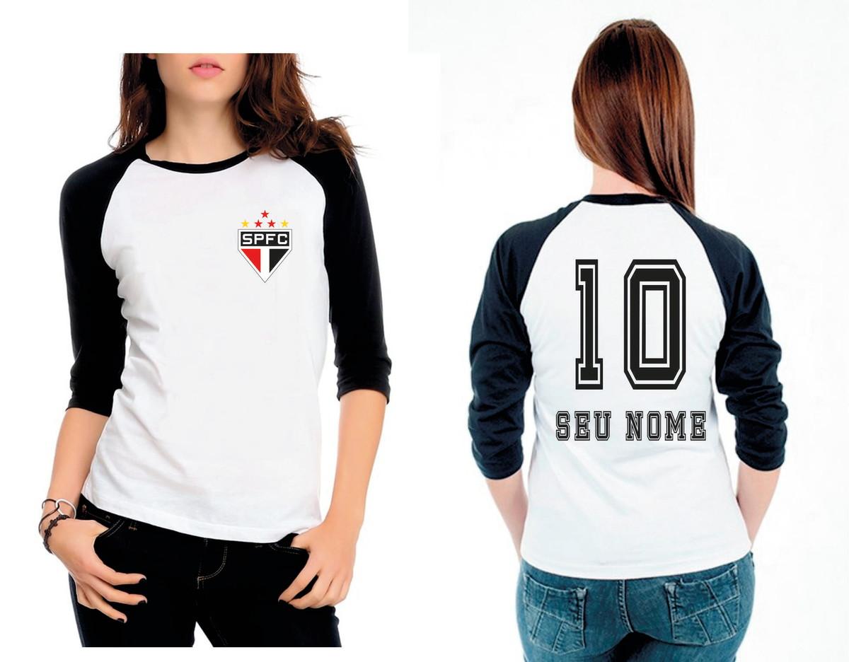 107a5264c9 Camiseta Raglan 3 4 sao paulo no Elo7